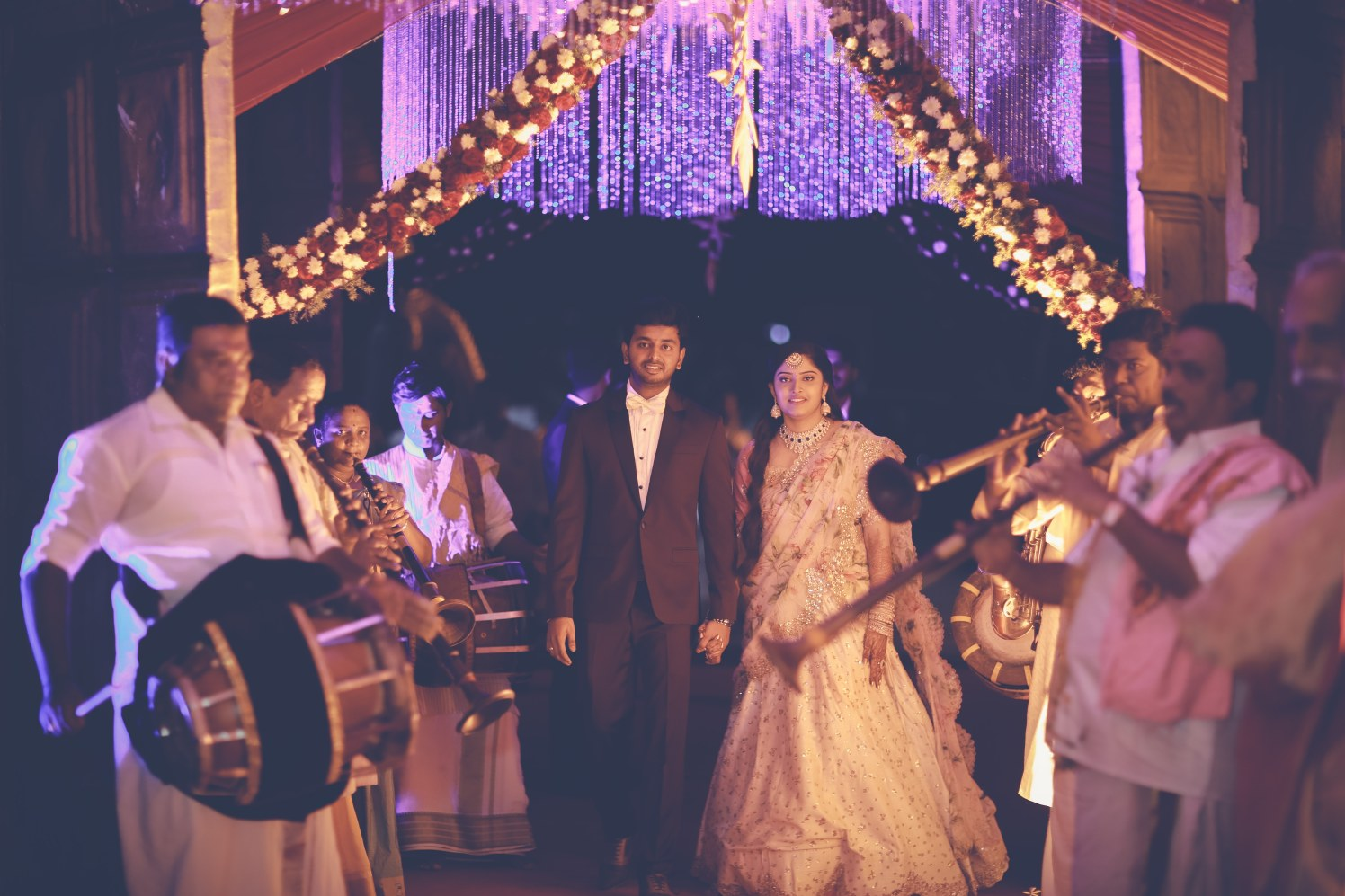Bride and Groom Make a Grand Entry During Their Reception by Priyanka Wedding-photography Wedding-dresses | Weddings Photos & Ideas