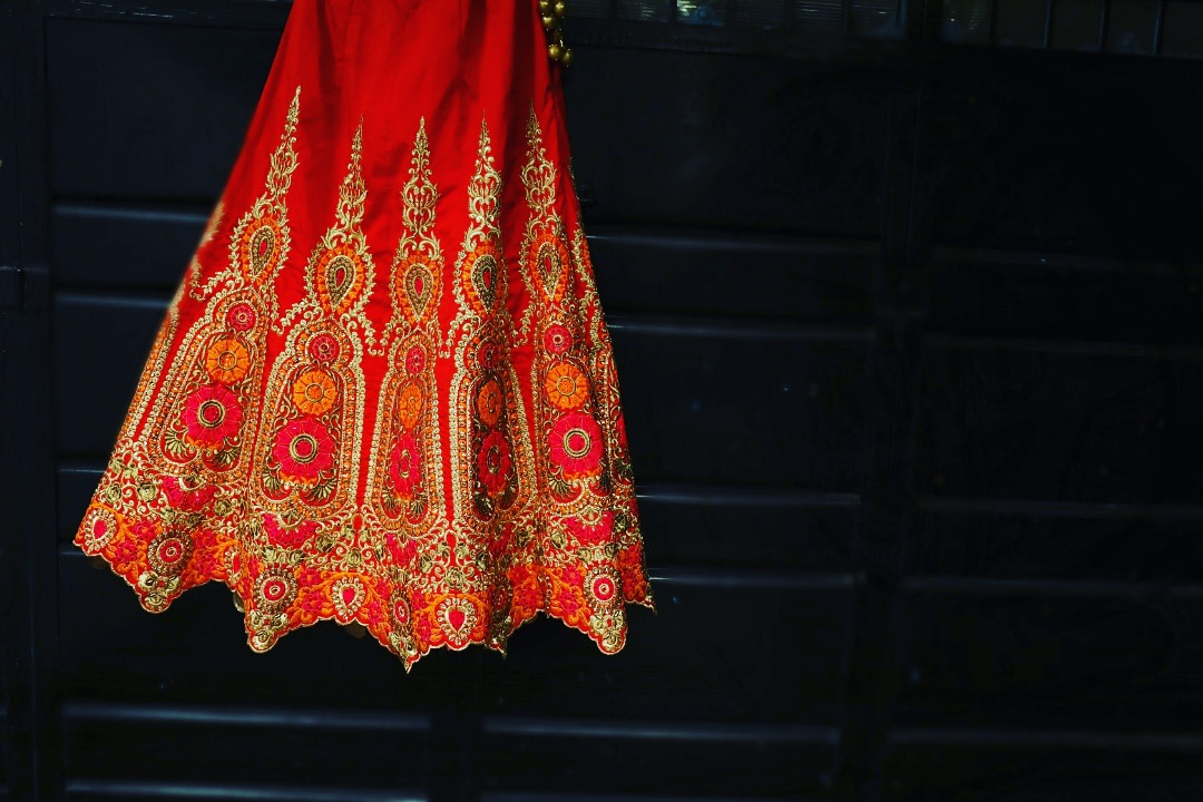 Crimson Red Lehenga With Gota Patti Work by Priyanka Wedding-dresses | Weddings Photos & Ideas