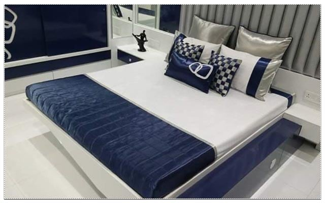 Plush master bedroom decor by Living Art Interiors Bedroom Modern   Interior Design Photos & Ideas