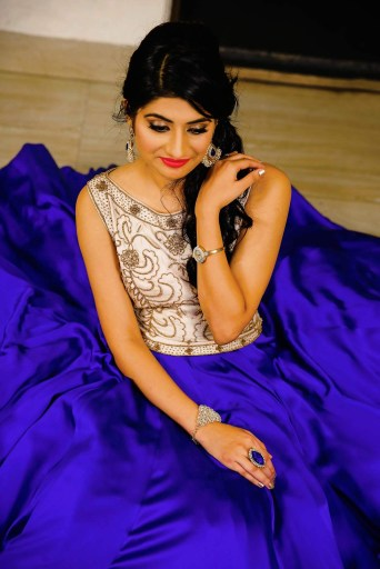 Bride to-be Wearing an Ethereal  Beige and Blue Gown by Himanshu Chauhan Wedding-photography | Weddings Photos & Ideas