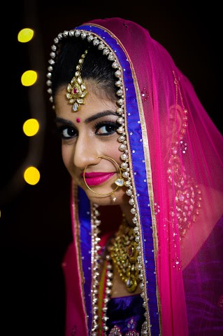 Beautiful bride portrait by Himanshu's Lomography Wedding-photography | Weddings Photos & Ideas
