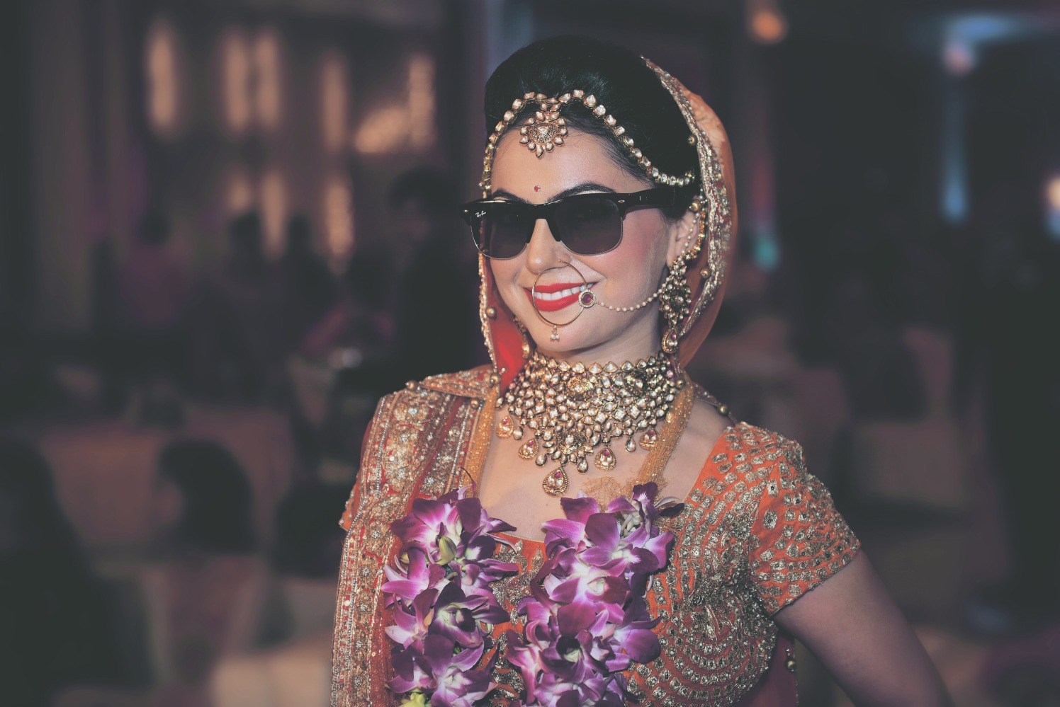 Cool bride pose with shades by Himanshu's Lomography Wedding-photography | Weddings Photos & Ideas