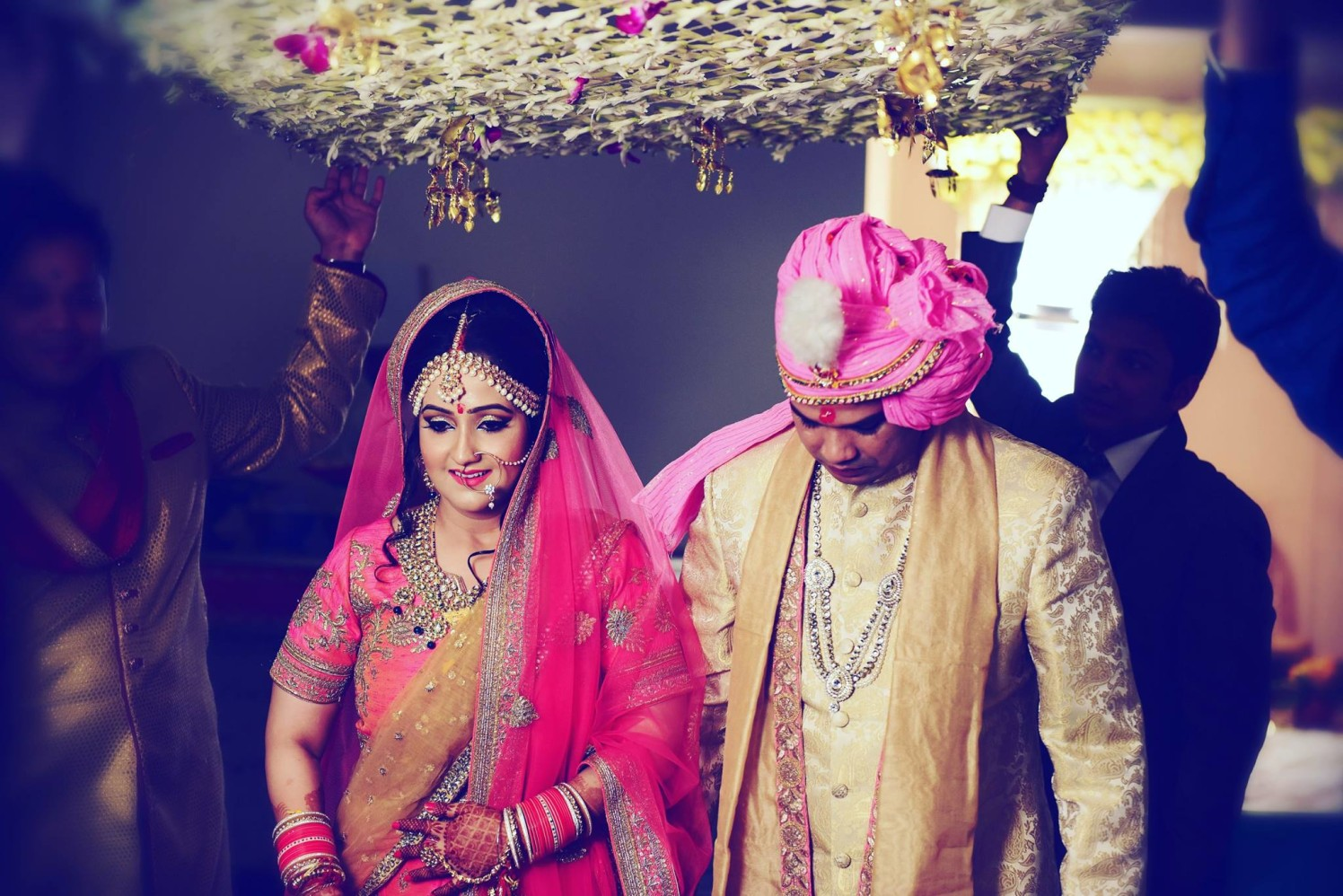 Timeless frame of bride being accompanied by her father by Himanshu's Lomography Wedding-photography | Weddings Photos & Ideas