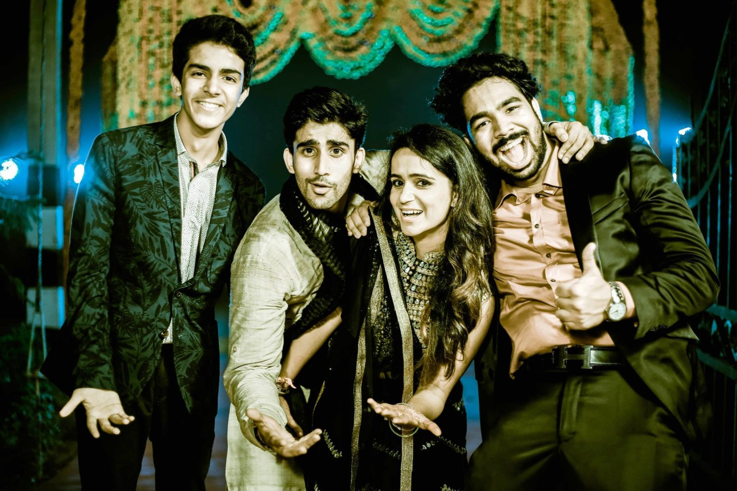 Fun friends of the bride pose by Himanshu's Lomography Wedding-photography | Weddings Photos & Ideas
