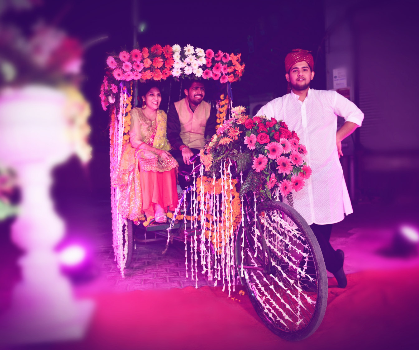 Bicycle Prop With Floral Decor Ideas by Himanshu Chauhan Wedding-decor | Weddings Photos & Ideas