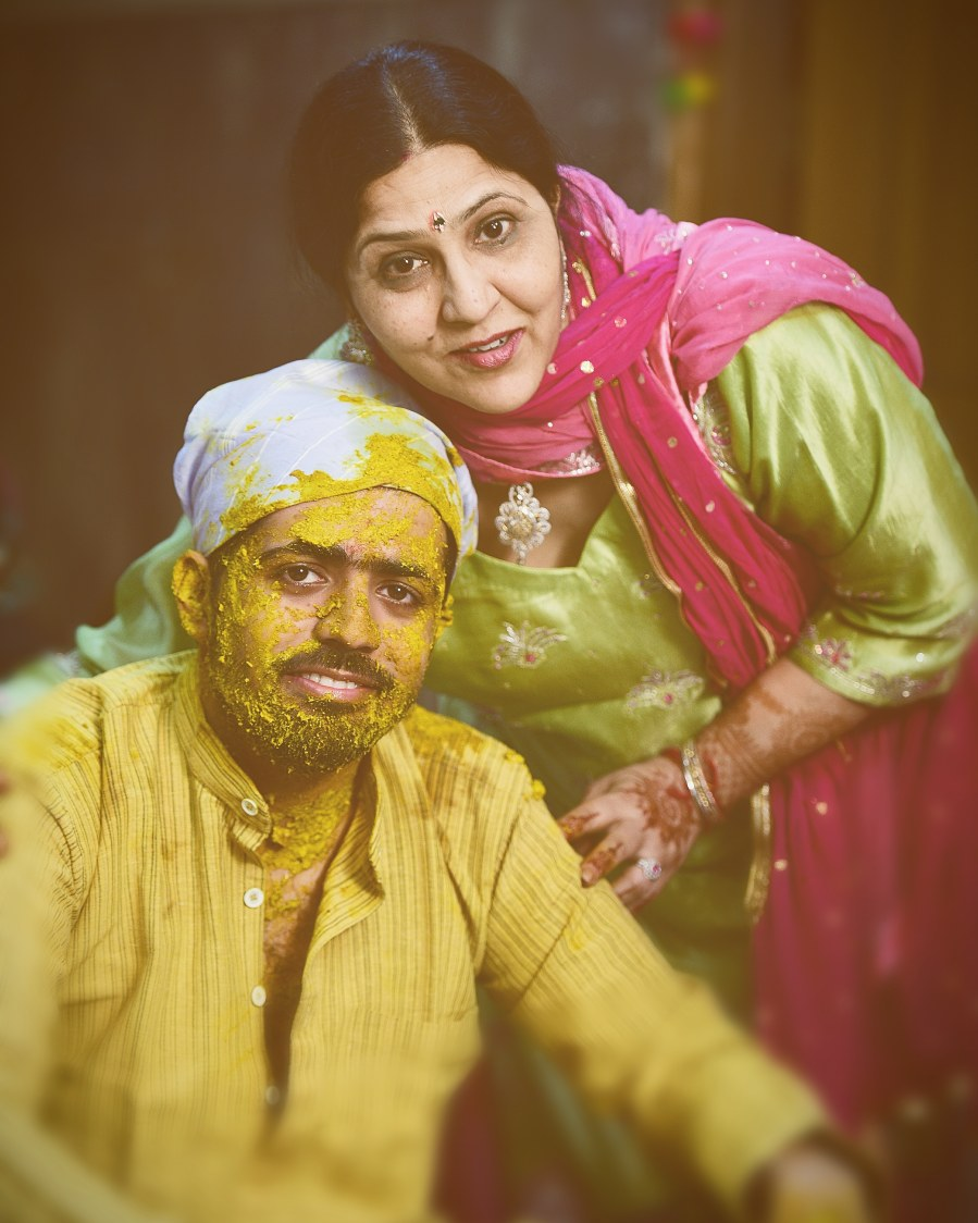Groom and his mother during his haldi ceremony by Himanshu's Lomography Wedding-photography | Weddings Photos & Ideas