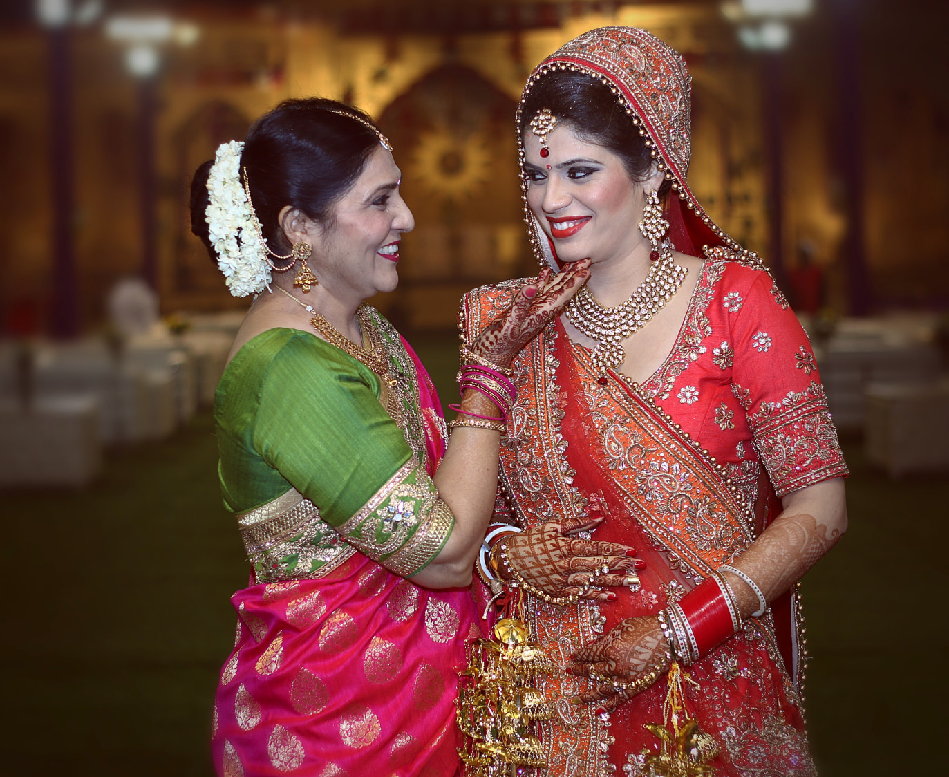 Bride and Mother of the Bride Pose by Himanshu Chauhan Wedding-photography | Weddings Photos & Ideas