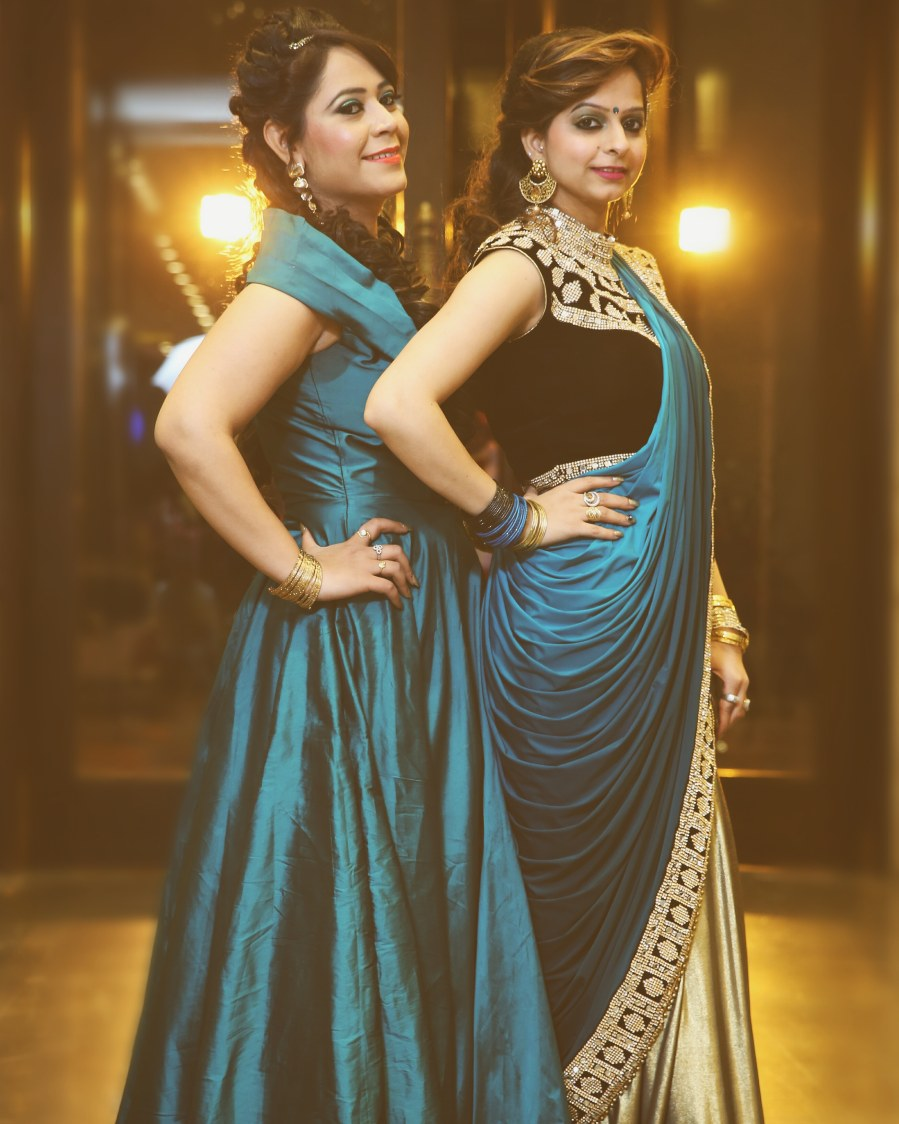 Beautiful  teal gown for friends of the bride by Himanshu's Lomography Wedding-photography | Weddings Photos & Ideas