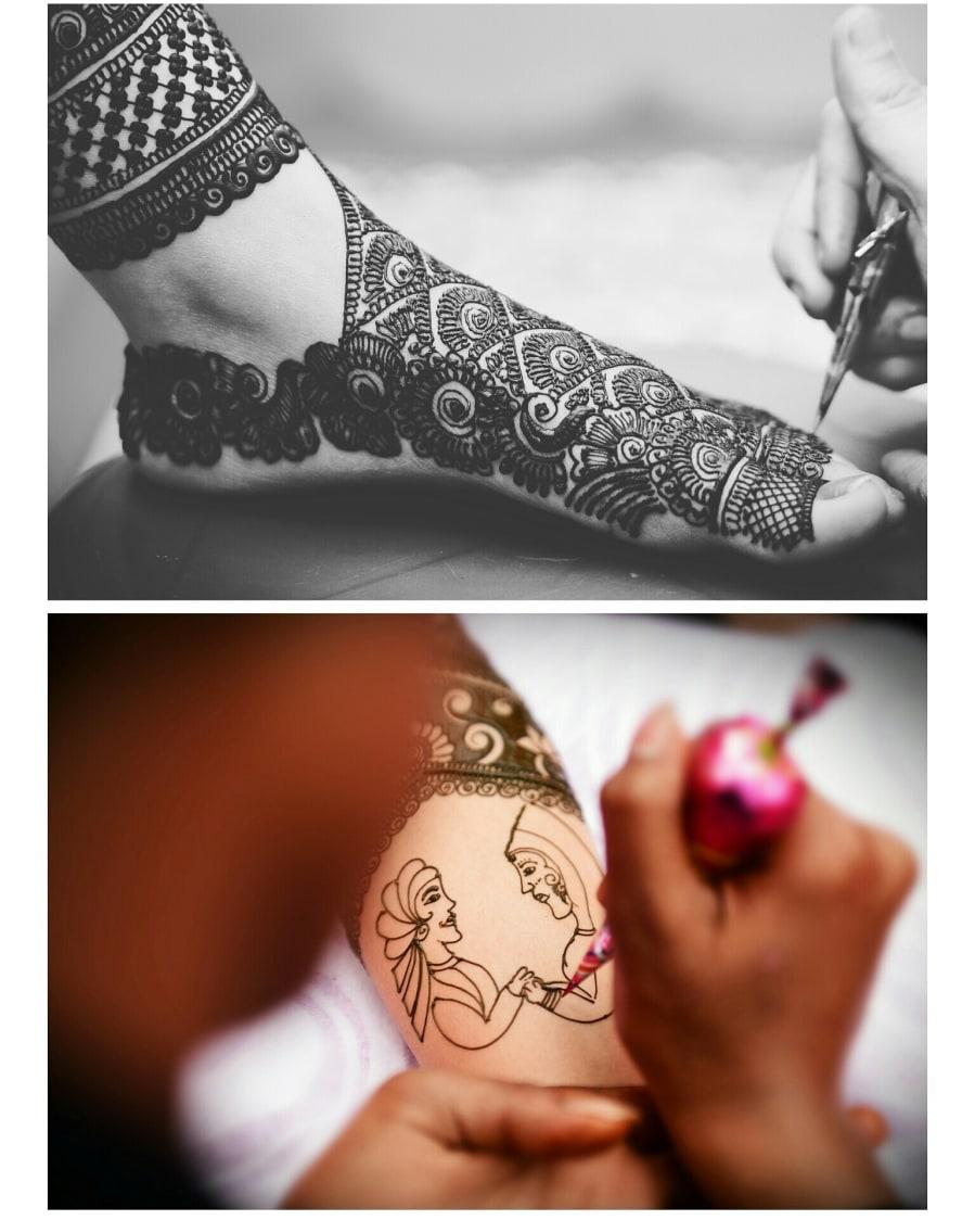 Raja and Rani Architecture Bridal Henna Design by Himanshu Chauhan Bridal-mehendi | Weddings Photos & Ideas