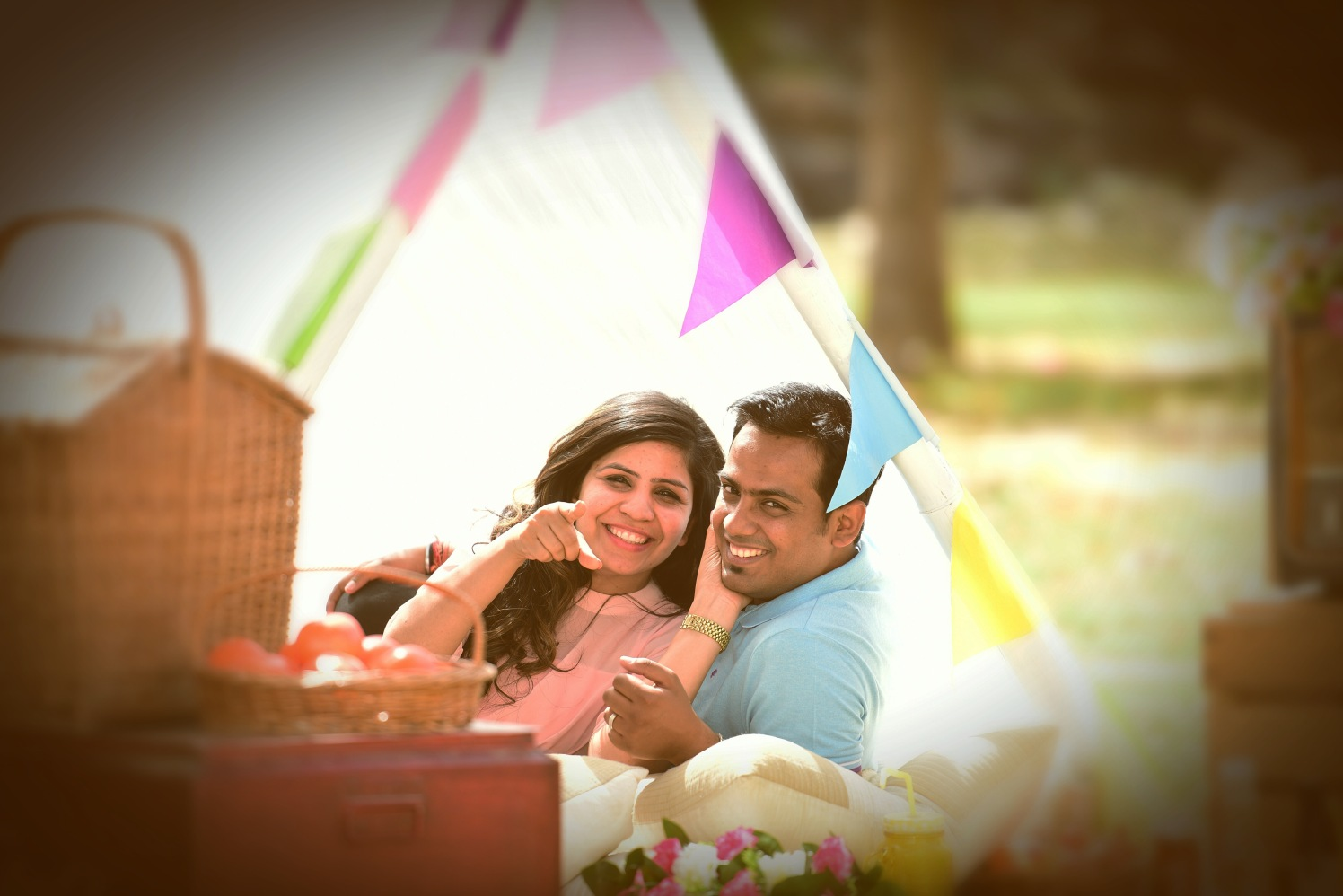 Bride and Groom To-Be on a Picnic Date by Himanshu Chauhan Wedding-photography | Weddings Photos & Ideas