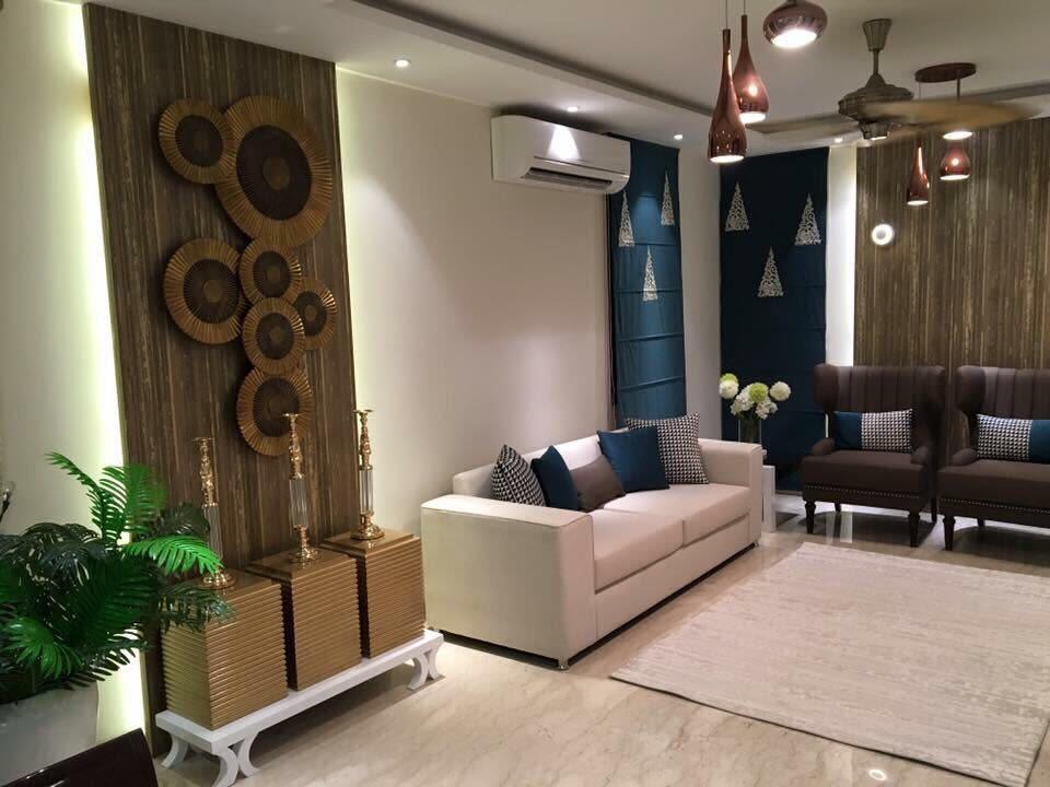 Plush living room decor by zoya Living-room Modern | Interior Design Photos & Ideas