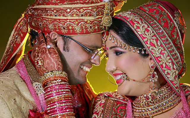 Radiant bride and groom on their wedding day by VK Pro Clicks Wedding-photography | Weddings Photos & Ideas