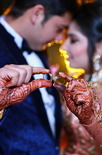 Beautiful ring shot of bride and groom during their engagement day by VK Pro Clicks Wedding-photography | Weddings Photos & Ideas