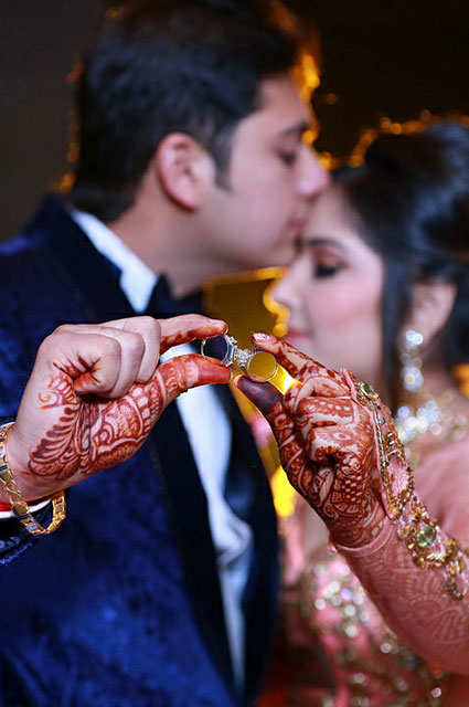 Bride and groom ring shot on their engagement day by VK Pro Clicks Wedding-photography | Weddings Photos & Ideas