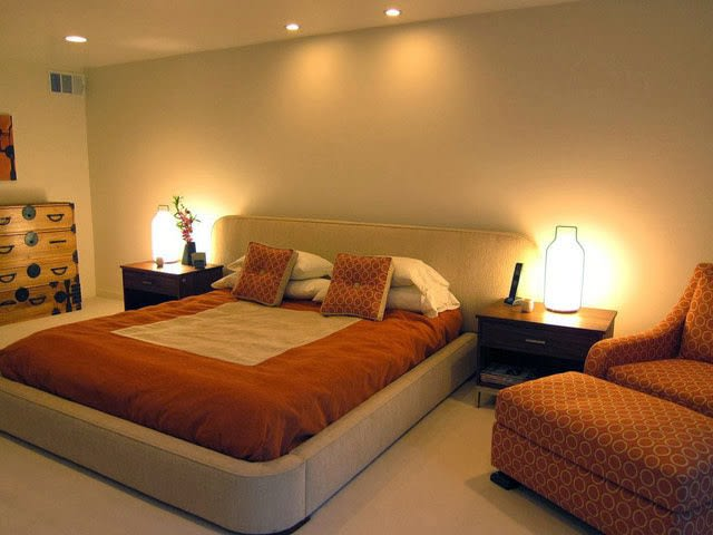 Light Copper Bedroom With Round Corner Bed by Pratikshaa Pandey Bedroom Contemporary | Interior Design Photos & Ideas