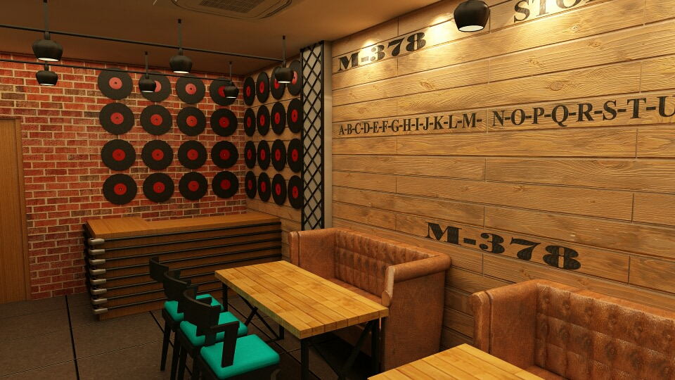 Restaurant With Wooden Finish Wall by Nitin Bhatia Contemporary | Interior Design Photos & Ideas