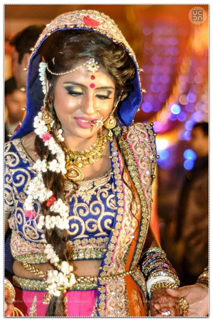 Stunning Bride Wearing Bold Makeup by Anuj Sharma Wedding-photography Wedding-hairstyles Bridal-makeup | Weddings Photos & Ideas
