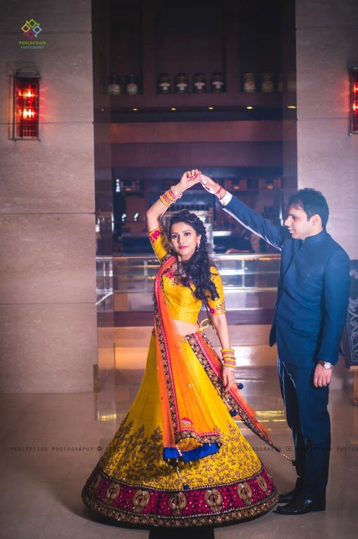 Mustard Yellow Bridal Lehenga With Heavy Embroidery by Anuj Sharma Wedding-photography Groom-wear-and-accessories Wedding-dresses | Weddings Photos & Ideas