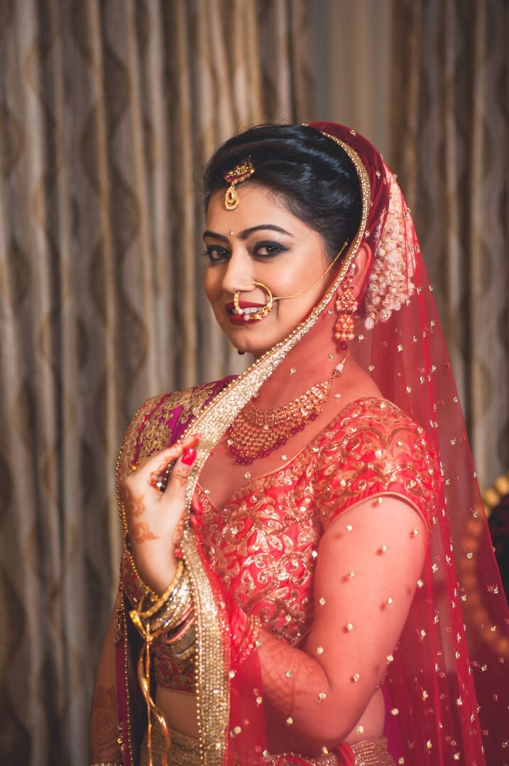 Bold Makeup For The Bride On Wedding Day by Anuj Sharma Wedding-photography Bridal-makeup | Weddings Photos & Ideas