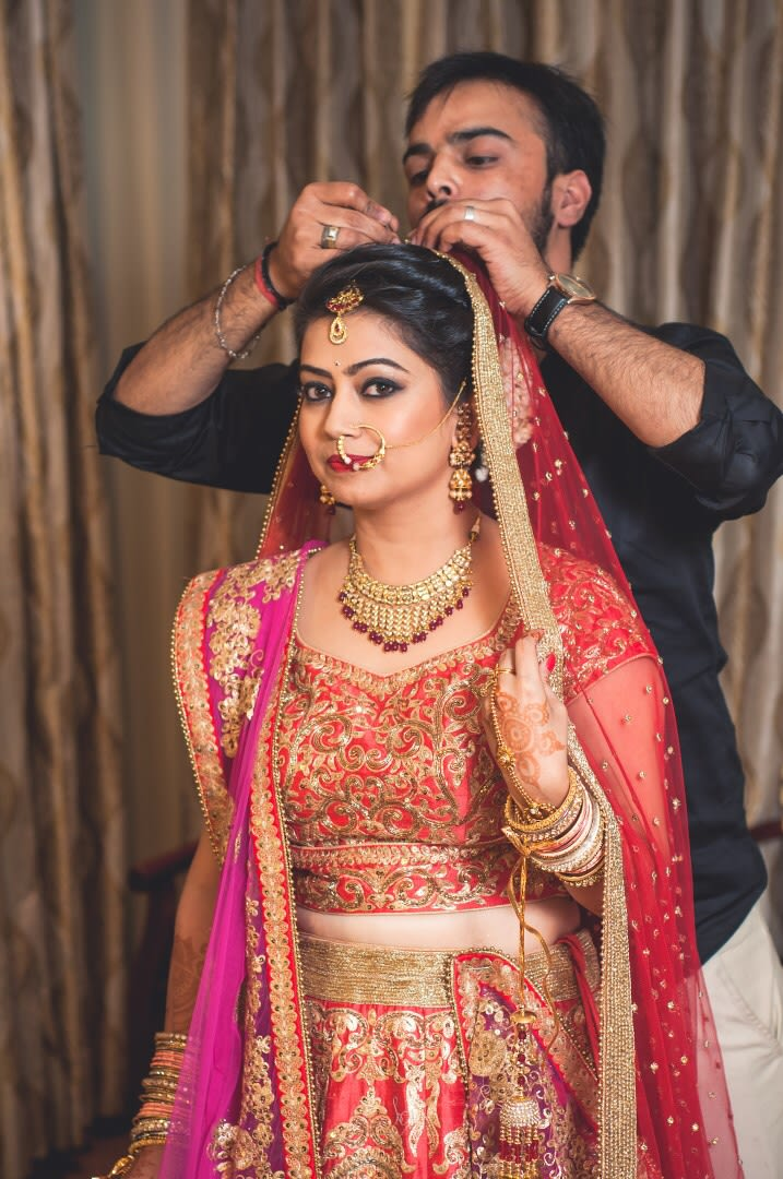 Getting Ready For He Special Day by Anuj Sharma Wedding-photography Bridal-makeup | Weddings Photos & Ideas