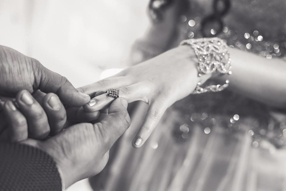 Black And White Shot Of Bride And Groom Exchanging Wedding Rings by Paramjeet Singh Dhanjal Wedding-photography | Weddings Photos & Ideas