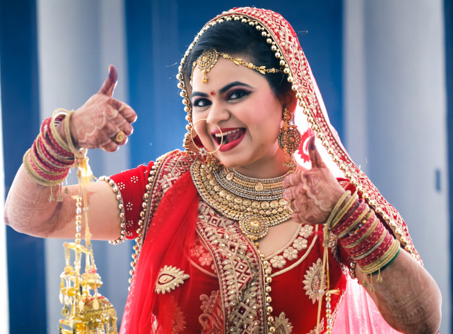 Scintillating Bride Striking A Pose For Bridal Wedding Shoot by Paramjeet Singh Dhanjal Wedding-photography | Weddings Photos & Ideas