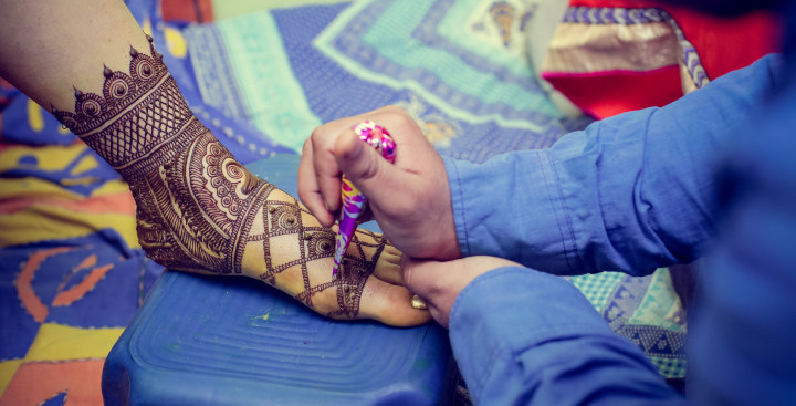 Arabic Net Style Mehendi For Feet by Memoirs by Paramjeet Singh Dhanjal Wedding-photography | Weddings Photos & Ideas