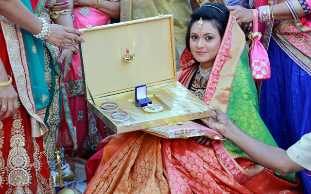 Thankful to receive gifts by Jinen Shah Photography Wedding-photography | Weddings Photos & Ideas