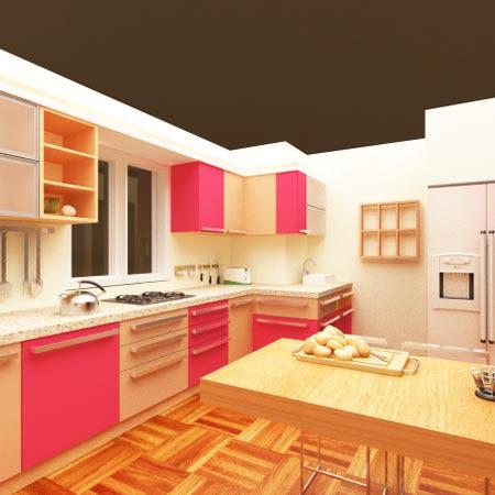 A modern modular kitchen. by The Designers Modular-kitchen Modern | Interior Design Photos & Ideas