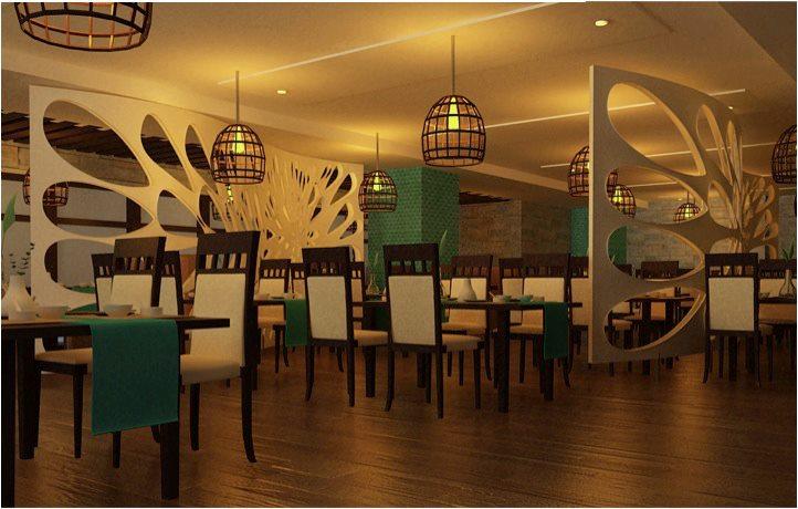 Modern fine dining restaurant decor by The Inside Story Modern   Interior Design Photos & Ideas