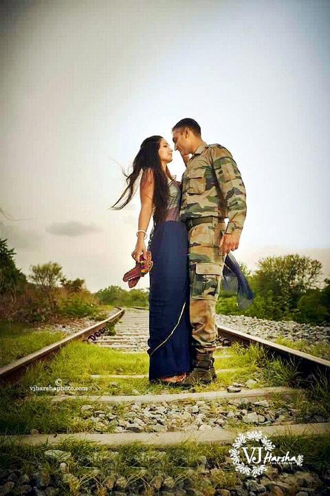 Sanguine romance on the train tracks by Vjharsha Photography Wedding-photography | Weddings Photos & Ideas