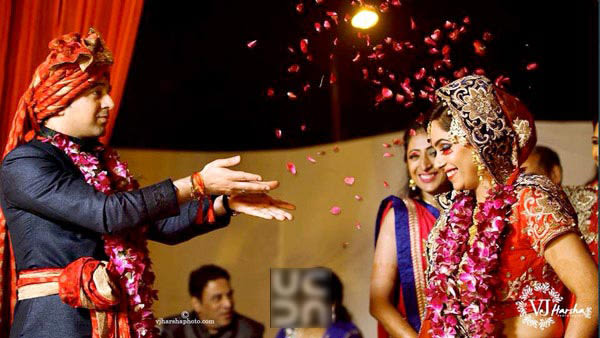 Shower of petals by Vjharsha Photography Wedding-photography   Weddings Photos & Ideas
