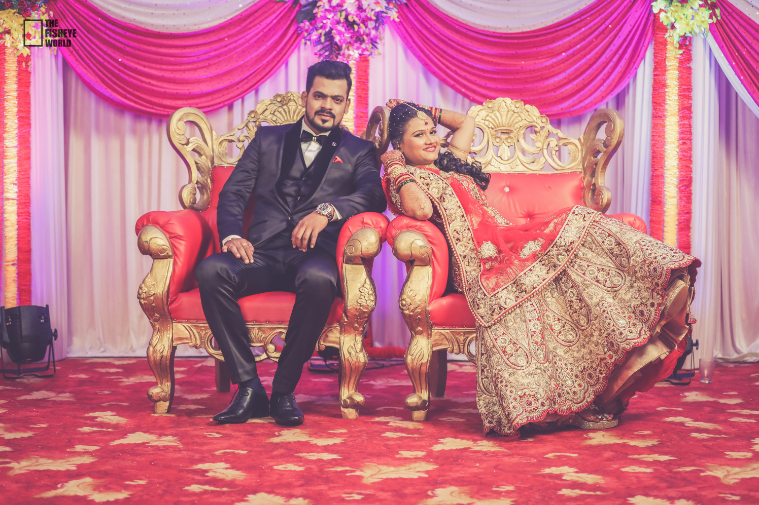 Delighted bride in gorgeous attire by The Fisheye world institute of photography and studios Wedding-photography | Weddings Photos & Ideas