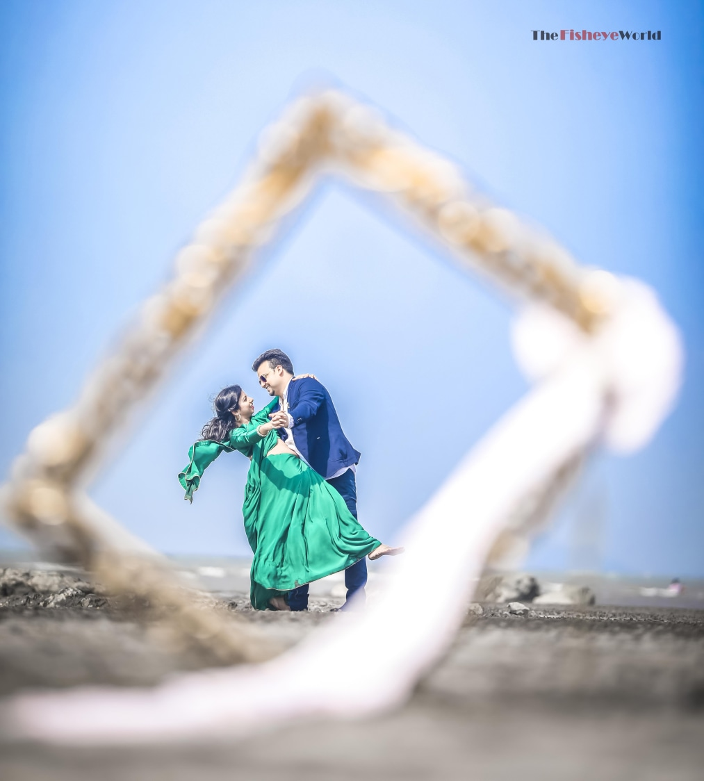 Quirky pose in a frame by The Fisheye world institute of photography and studios Wedding-photography   Weddings Photos & Ideas