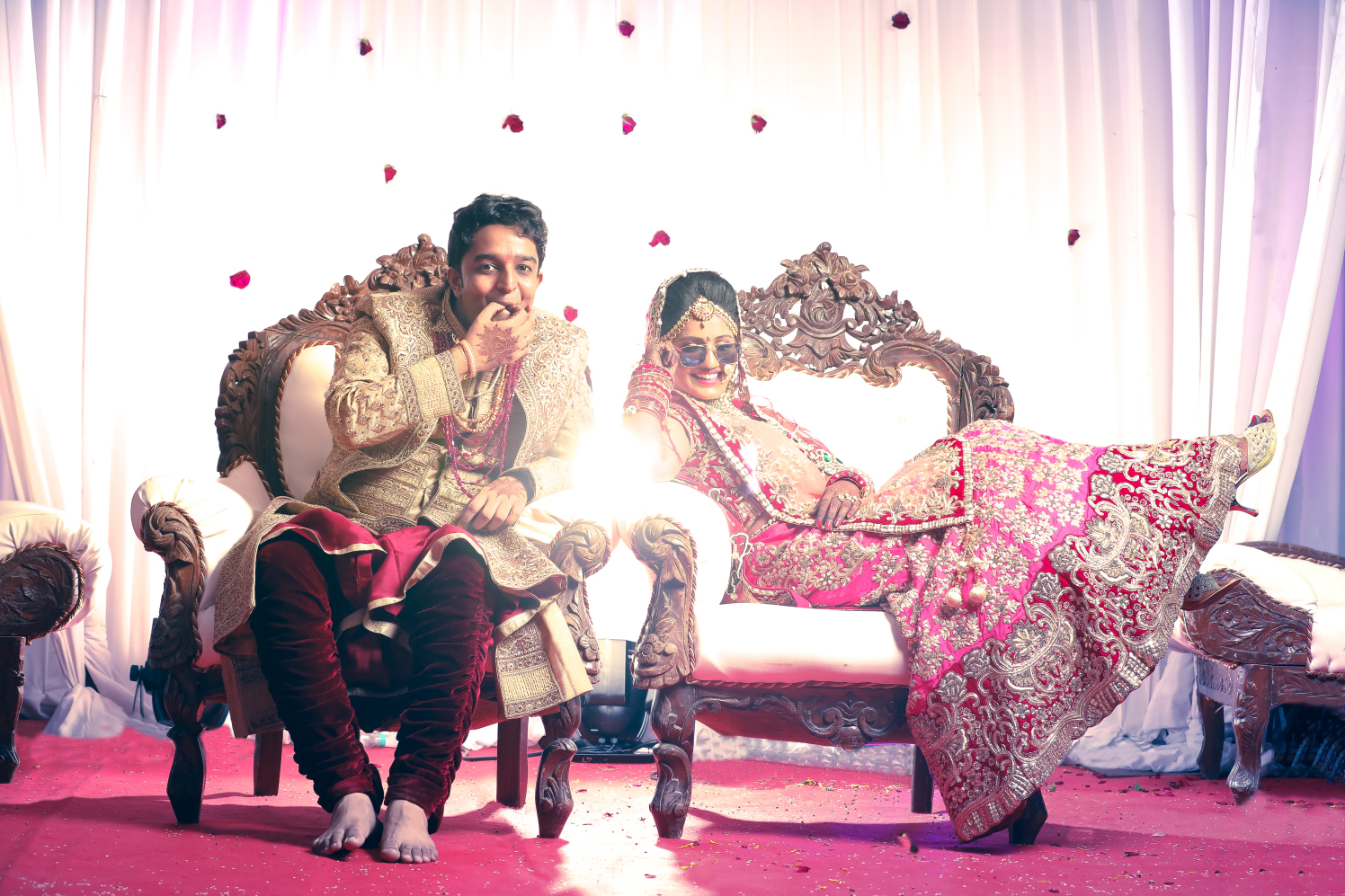 Voguish bride and groom by The Fisheye world institute of photography and studios Wedding-photography   Weddings Photos & Ideas
