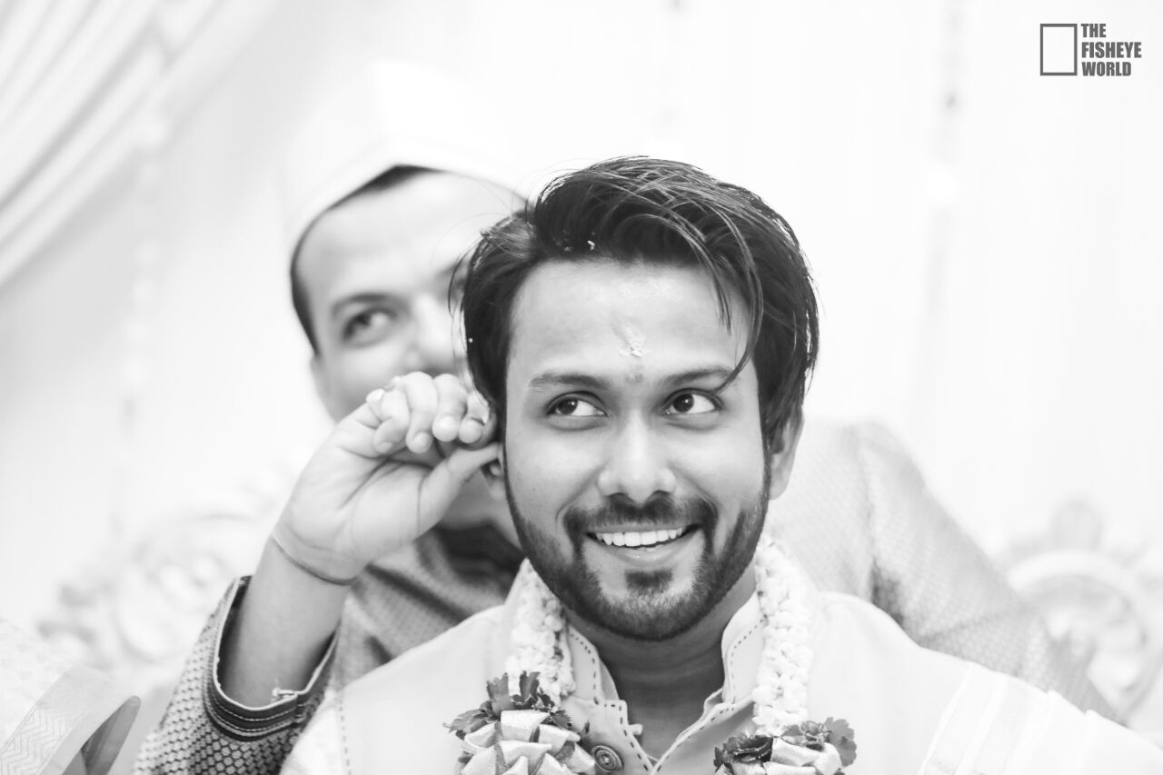 Happily clicked groom by The Fisheye world institute of photography and studios Wedding-photography | Weddings Photos & Ideas