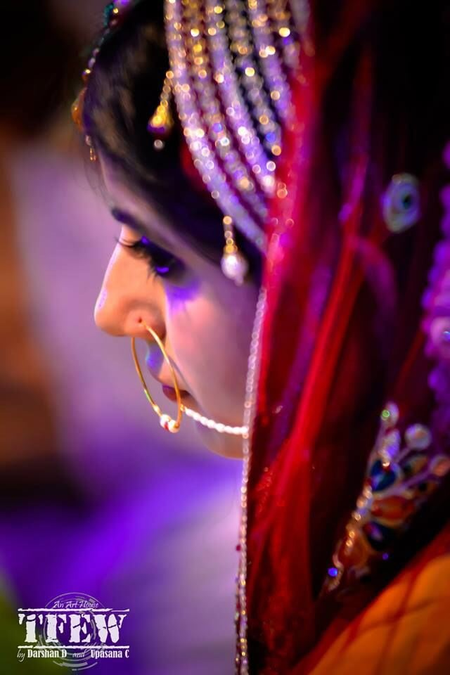 Regal bride with stellar nose ring by The Fisheye world institute of photography and studios Wedding-photography Bridal-jewellery-and-accessories | Weddings Photos & Ideas