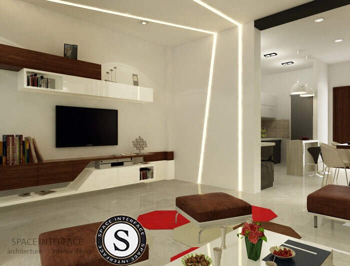 3D design of living room! by Space Interface - Architecture and Interior Design Living-room | Interior Design Photos & Ideas