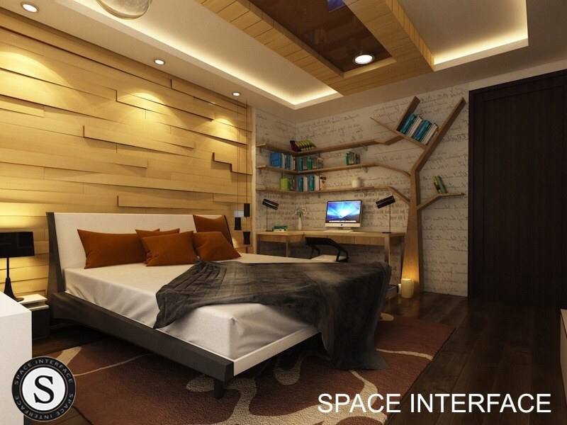 Contemporary Bedroom Design! by Space Interface - Architecture and Interior Design Bedroom | Interior Design Photos & Ideas