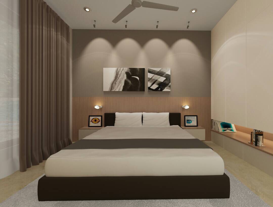 Modern and simple bedroom design! by Space Interface - Architecture and Interior Design Bedroom | Interior Design Photos & Ideas