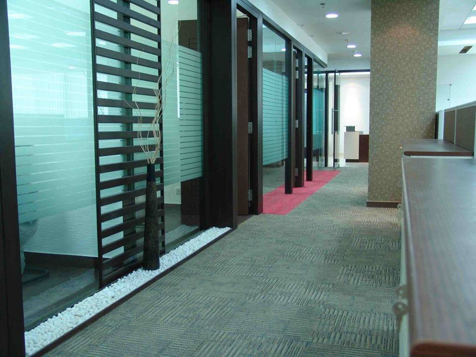 Modern cellular style office decor by Arch+3 Modern | Interior Design Photos & Ideas