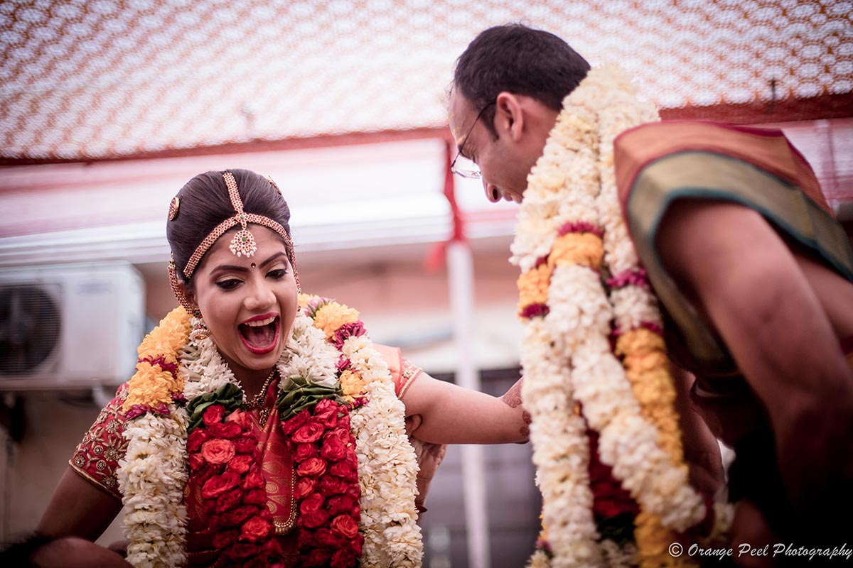 An overjoyed bride on her D-day! by Orange Peel Photography Wedding-photography | Weddings Photos & Ideas