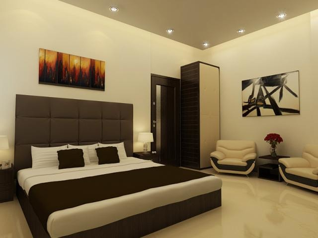 Master bedroom with marble flooring by Reform Design  Bedroom | Interior Design Photos & Ideas