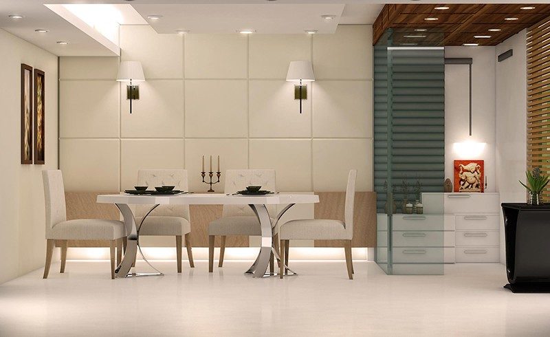 3D dining room with marble flooring by Reform Design  Dining-room | Interior Design Photos & Ideas