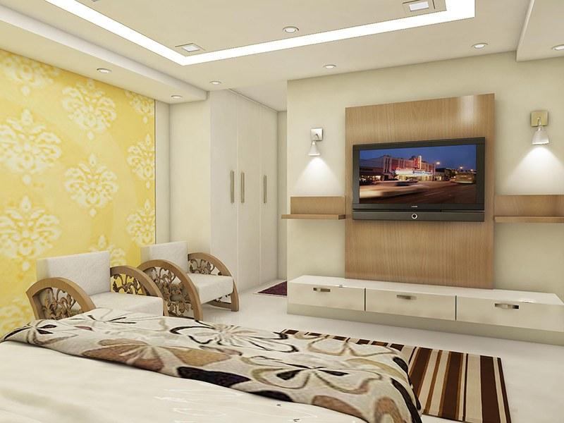 Guest bedroom with marble flooring by Reform Design  Bedroom | Interior Design Photos & Ideas