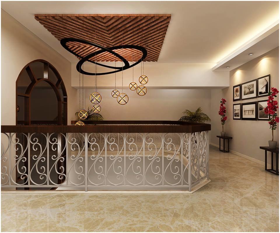 3D design of a hallway with marble flooring by Reform Design  Indoor-spaces | Interior Design Photos & Ideas