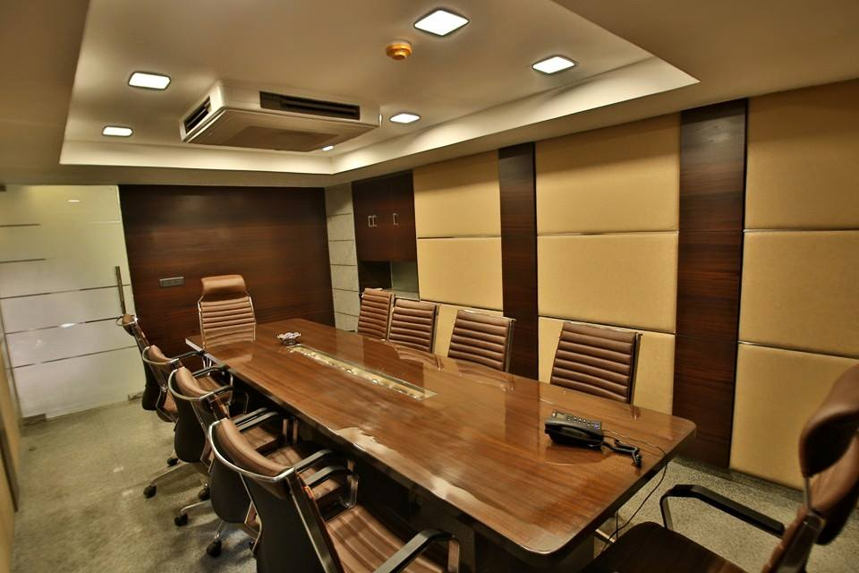 Conference Room With Wooden Work by Damanjit Bajaj  Modern | Interior Design Photos & Ideas