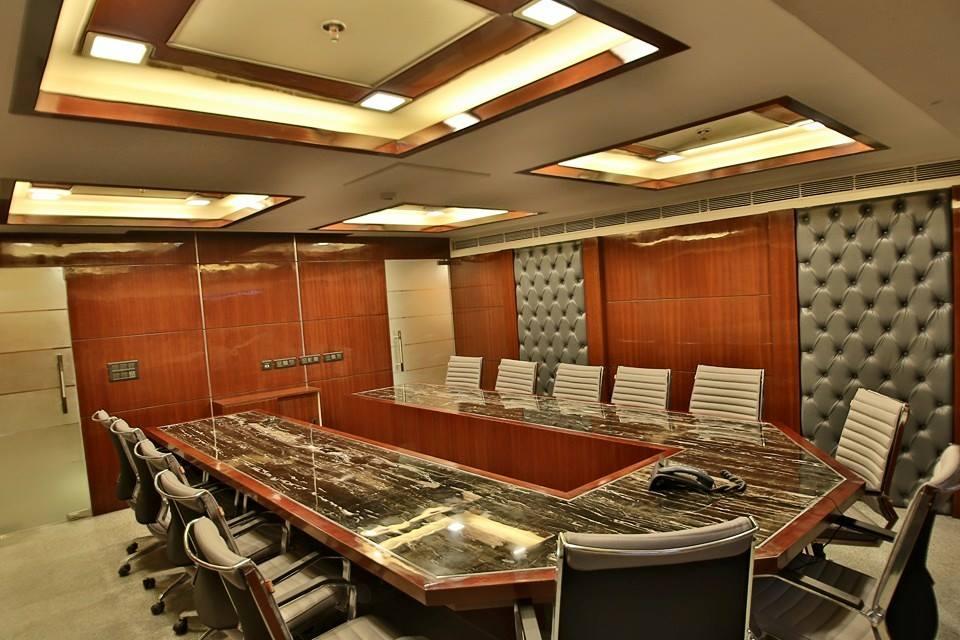Meeting Room With Artistic False Ceiling by Damanjit Bajaj  Modern | Interior Design Photos & Ideas