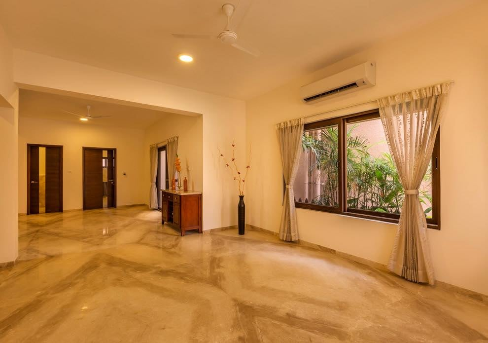 White Marbled Hallway by Nilesh Jain Indoor-spaces Contemporary | Interior Design Photos & Ideas
