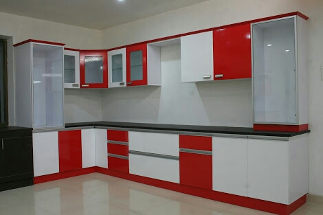 Beautiful modular L shaped kitchen design by Sri Velu Services Modular-kitchen | Interior Design Photos & Ideas